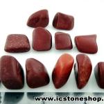 ▽Catlinite หรือเรียกว่า Pipestone หินขัดมัน 12 ชิ้น(97g)