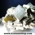 ผลึกกลุ่มไพไรต์ Pyrite เปรูแหล่งสวยสุดในโลก (53g)