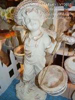 ตุ๊กตาแต่งสวน รูปเด็กหาบถังน้ำ