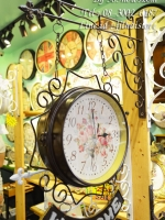 นาฬิกาแต่งบ้านวินเทจ Welcome สไตล์โบราณเก๋ๆสีดำ