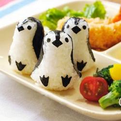 อุปกรณ์ทำเบนโตะ พิมพ์กดข้าวปั้น รูปเพนกวิน