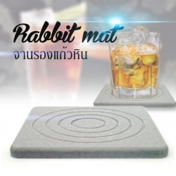 จานรองแก้วหิน Rabbit Mat