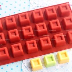 แม่พิมพ์ซิลิโคน ขนมชั้น สบู่ สี่เหลี่ยมเล็ก 18 ช่อง 25 กรัม