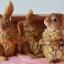 ตุ๊กตาเรซิ่นรูปกระต่ายสามตัว ขนสีน้ำตาล thumbnail 1