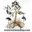 ต้นไม้มงคล หินมอสอาเกต+โกเมน+ควอตซ์ ใช้เสริมฮวงจุ้ย โต๊ะทำงาน (507g) thumbnail 4