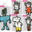 Atom Rubber Mascot Keychain Designed by Taku Yoshimizu 12Pack BOX(Pre-order) thumbnail 1
