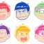 Osomatsu-san - Rubber Coaster vol.2 7Pack BOX(Pre-order) thumbnail 1