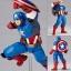 Figure Complex - Amazing Yamaguchi No.007 Captain America(Pre-order) thumbnail 1