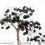 ต้นไม้มงคล หินออบซิเดียน ฐานควอตซ์ ใช้เสริมฮวงจุ้ย โต๊ะทำงาน (350g) thumbnail 6