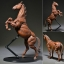 "KT Project KT-008 Takeya Style Jizai Okimono ""Horse"" Colored(Pre-order) thumbnail 1"