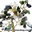 ต้นไม้มงคล หินมอสอาเกต+โกเมน+ควอตซ์ ใช้เสริมฮวงจุ้ย โต๊ะทำงาน (507g) thumbnail 9