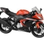 1/12 Complete Motorcycle Model Kawasaki Ninja ZX-6R 2014 (Orange)(Back-order) thumbnail 1