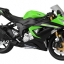 1/12 Complete Motorcycle Model Kawasaki Ninja ZX-6R 2014 (Lime Green)(Released) thumbnail 1