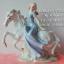 ของแต่งบ้านวินเทจ ตุ๊กตาเรซิ่นสาวสวยนั่งบนหลังม้า thumbnail 1