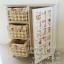 ตู้วินเทจสีขาวสไตล์เจ้าหญิง มีลิ้นชัก 3 ชั้น บานประตู 1 บาน - รหัส FUR002 thumbnail 4