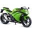 1/12 Complete Motorcycle Model Kawasaki Ninja 250 Lime Green(Back-order) thumbnail 1