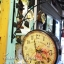 นาฬิกาวินเทจสีดำ รูปนกกิ่งไม้ มี 2 หน้าปัด thumbnail 1