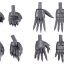 M.S.G Modeling Support Goods - Hand Unit Sharp Hand 2(Pre-order) thumbnail 2
