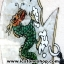[โปรโมชั่น] ภาพเทพเจ้ากวนอูทำจากพลอยและหิน (ขนาดรวมกรอบ 62x75 นิ้ว.) thumbnail 9