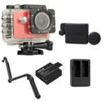 Sj5000X (Red) +(Battery+Dual charger+Protective Lans+3 Way)