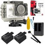 SJCAM SJ5000X Elite WiFi 4K (2x Battery +Dual-Charger+Monopod+ Kingston32) - White