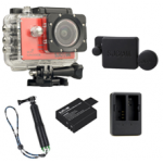 Sj5000X (Red)+(Battery+Dual charger+Protective Lans+TMC Green)