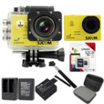 Sj5000 WiFi (Yellow) +Micro SD Kingston 32GB+Battery+Dual Charger+Monopod+Bag (Black)