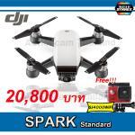 DJI SPARK(White) Free SJCAM SJ4000 WiFi (Red)