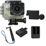 X1000 Silver +Extra Battery+Dual Charger+Protective Lens+TMC Selfie (Blue)