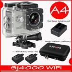SJ4000 Wi-Fi (Silver)+Battery+Dual Charger+BAG(L)