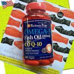 OMEGA-3 Fish Oil 1000mg Plus CO Q-10 60softgels