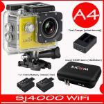 SJ4000 Wi-Fi (Yellow)+Battery+Dual Charger+BAG(L)+TMC Selfie