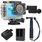 SJCAM SJ5000X Elite WiFi 4K (Blue) (+Extra Battery+DualCharger+TMC Gold+ProtectiveLens)