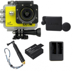 X1000 Yellow +Extra Battery+Dual Charger+Protective Lens+TMC Selfie (Gold)