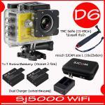 SJ5000X (Yellow)+ Battery + Dual Charger + TMC Selfie + Bag(L)