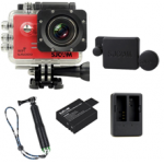 Sj5000 WiFi (Red)+(Battery+Dual charger+Protective Lans+TMC Green)