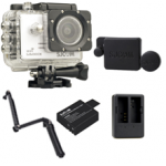 Sj5000X (White) +(Battery+Dual charger+Protective Lans+3 Way)