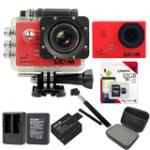 Sj5000 WiFi (Red) +Micro SD Kingston 32GB+Battery+Dual Charger+Monopod+Bag (Black)