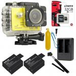 SJCAM SJ5000X Elite WiFi 4K (Battery +Dual-Charger+Monopod+ Kingston32) - Yellow