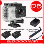 SJ5000X (White)+ Battery + Dual Charger + TMC Selfie( 7 สี )