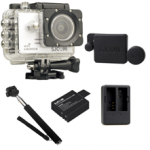 Sj5000X (White) +(Battery+Dual charger+Protective Lans+Monopod Selfie)