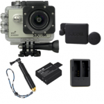X1000 Silver +Extra Battery+Dual Charger+Protective Lens+TMC Selfie (Gold)