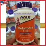 Melatonin 3 mg 180 Capsules Now Foods