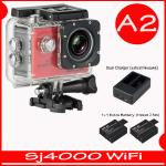 SJ4000 Wi-Fi (Red)+Battery+Dual Charger