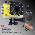 Sj5000 WiFi (Yellow) - Micro SD Kingston 32GB+Battery+Charger+Monopod