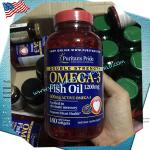 Omega-3 Fish Oil 1200 mg Double Strength / 180 Softgels ( Puritan's Pride )