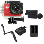 Sj5000 WiFi (Red) +(Battery+Dual charger+Protective Lans+3 Way)