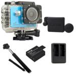 Sj5000X (Blue) +(Battery+Dual charger+Protective Lans+Monopod Selfie)