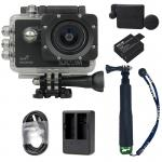 X1000 Black +Extra Battery+Dual Charger+Protective Lens+TMC Selfie (Green)
