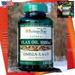 Natural Flax oil 1000mg 120softgels